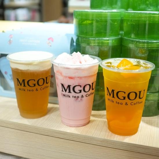 3 cốc trà sữa tùy chọn + 3 loại topping tại MGOU