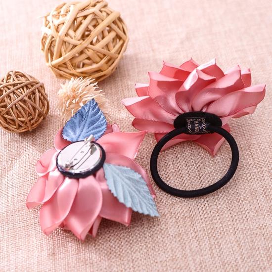 Hộp dây buộc tóc + hoa cài áo handmade xinh xắn