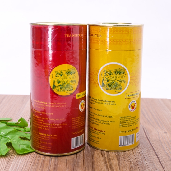 02 hộp trà xanh Ngọc Duy (80g/ hộp) 100% tự nhiên
