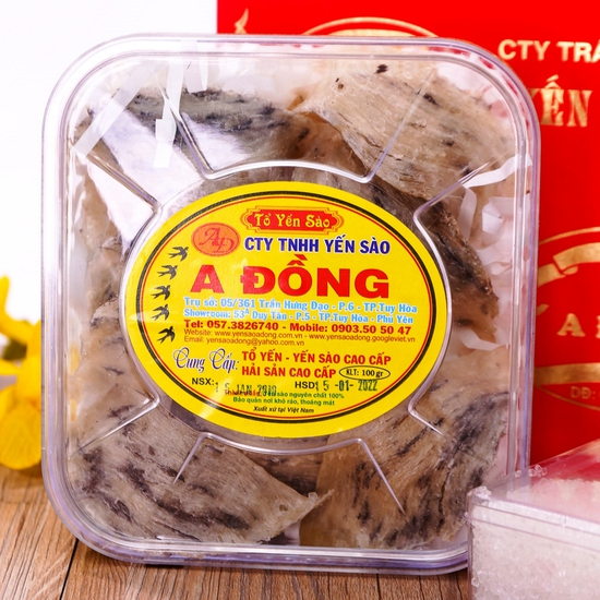 Yến sào thô nguyên tổ A Đồng 100g + đường phèn