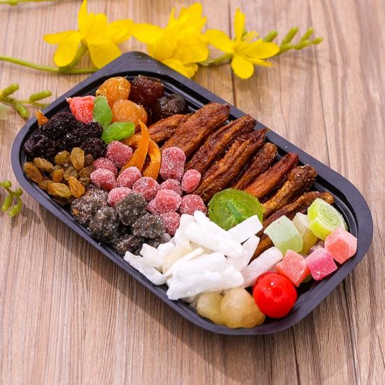 2 hộp mứt hoa quả mix nhiều loại (500g/hộp)
