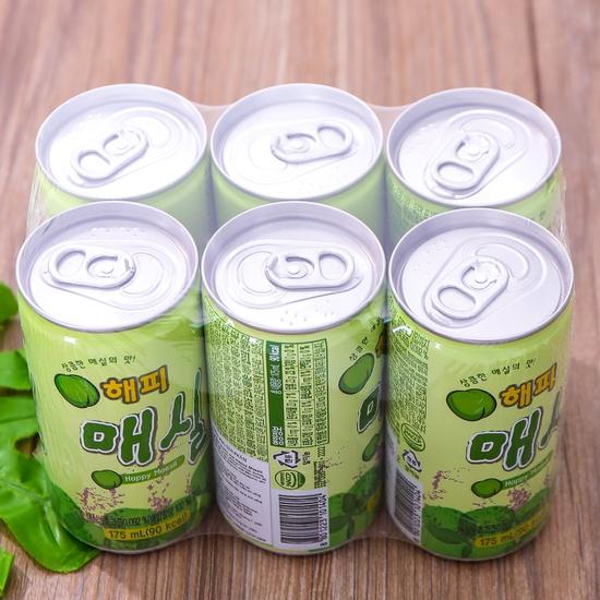 Set 6 lon nước mơ nhập khẩu Hàn Quốc 175ml/ lon