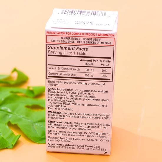 Viên uống bổ sung Oyster Shell Calcium + Vitamin D