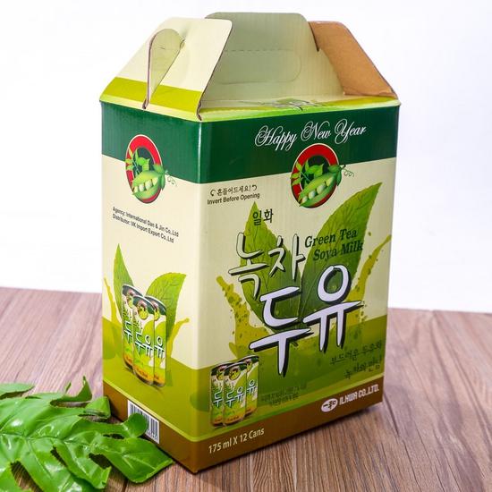 Hộp 12 lon sữa đậu nành vị trà xanh NK Hàn Quốc