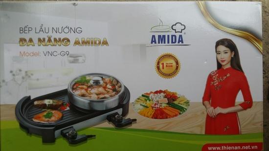 Bếp lẩu nướng Amida 2 giắc cắm