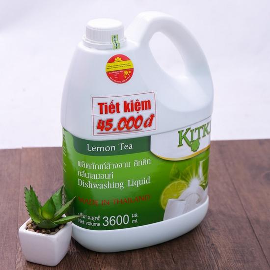 Nước rửa chén KitKit nhập khẩu 100% Thái Lan 3.6L