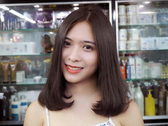 Trọn gói cắt gội + hấp phục hồi Kerantin siêu mượt Salon Hà Nguyễn
