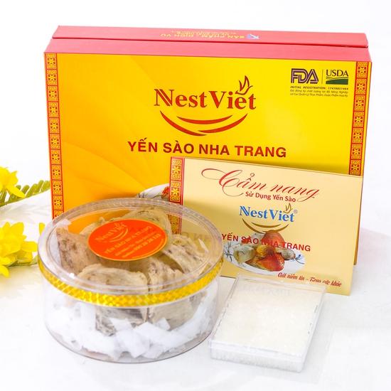 Yến sào thô nguyên tổ Nha Trang 100g + đường phèn