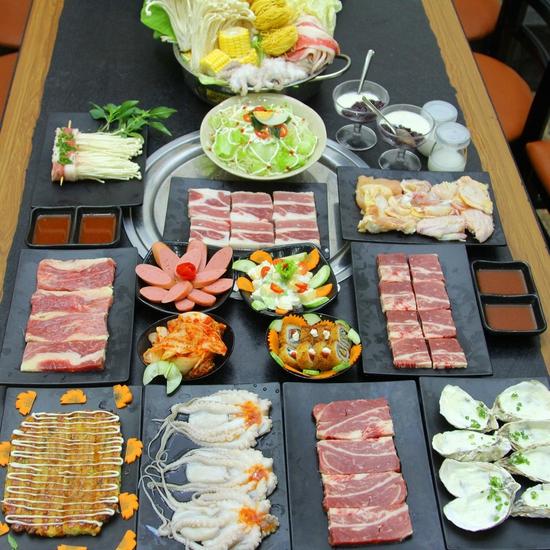 Buffet nướng full thịt & hải sản Menu VIP KochiBBQ