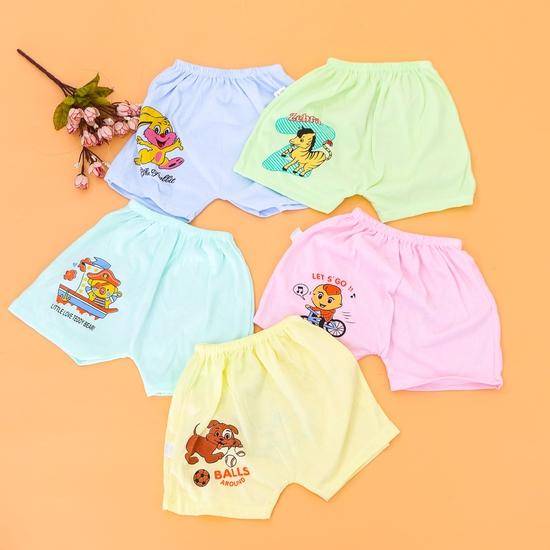 10 quần đùi cotton in hình xinh xắn cho bé-hàng VN