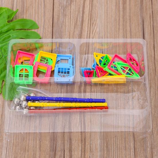 Bồ đồ chơi nam châm lắp ghép 50 chi tiết cho bé