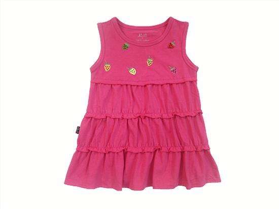 Váy bé gái thêu dâu tây 1-7T