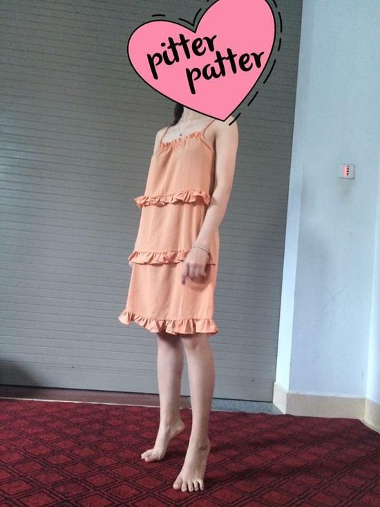 Váy 2 dây nhún bèo - hàng quảng châu