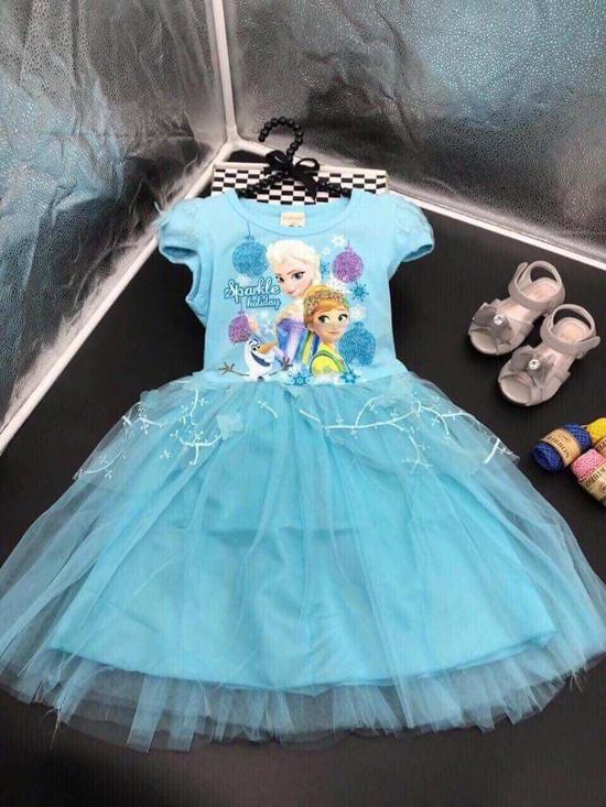 Váy Elsa cho bé gái