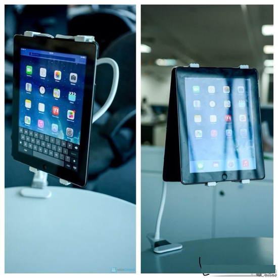 Kẹp( giá đỡ máy tính bảng bằng sắt có thể uốn dẻo