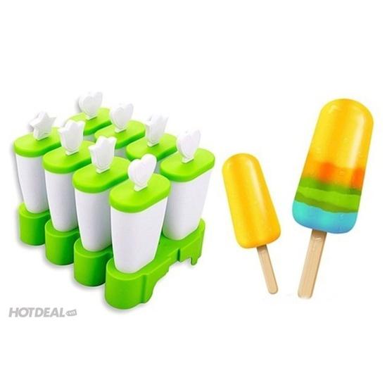 Khuôn làm kem 8 ngăn loại bền cao cấp
