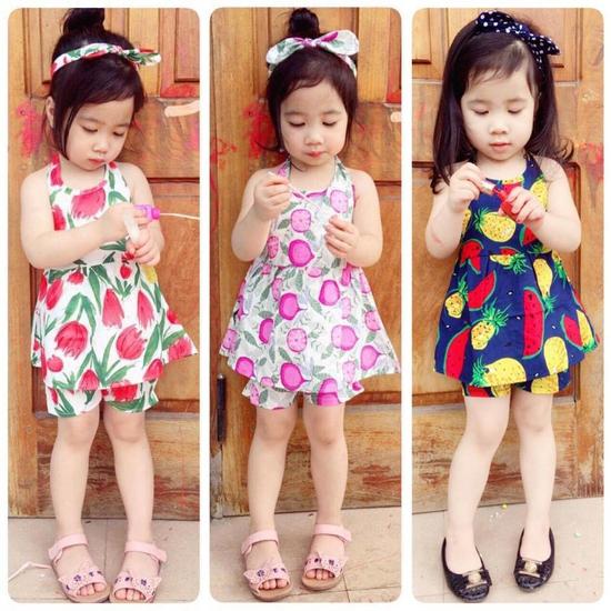 Combo hai bộ quần áo hè C2QATE76 cho bé gái SZ 1 (TTR.C02.0076.01.00)