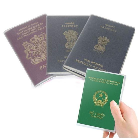 Combo 5 bọc hộ chiếu nhựa dẻo, có khe nhét thẻ