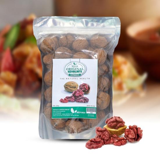 Gói 500g hạt óc chó đỏ- Món quà quý từ thiên nhiên