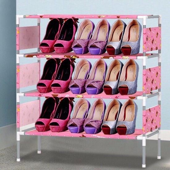 Kệ để giày dép 4 tầng hoa văn mẫu mới 2018