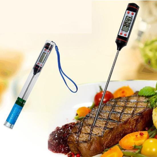 Nhiệt kế đo nhiệt độ nước, sữa, thực phẩm đa dụng (Trắng) - Tặng 1 dụng cụ lấy ráy tai có đèn