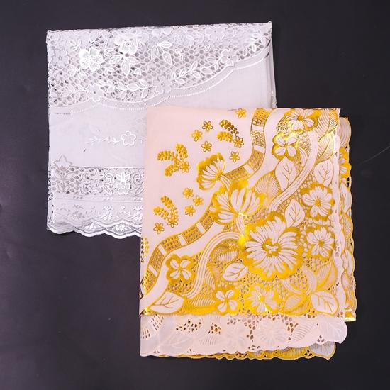 Khăn trải bàn dập hoa nổi (vàng 50x110cm)