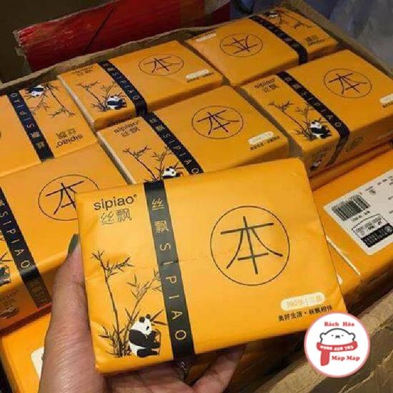 Thùng 27 gói giấy ăn gấu trúc siêu dai [ Bách hóa Mặp Mặp]