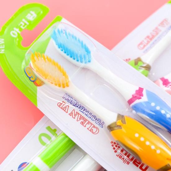 Combo 8 bàn chải(4 vỉ) đánh răng lông tơ - NK Hàn Quốc