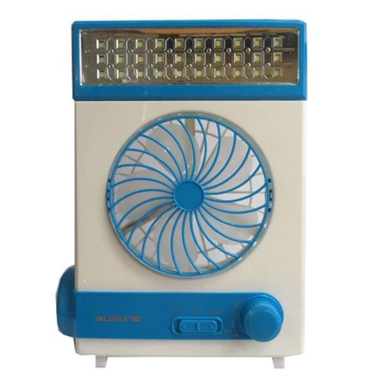 Quạt sạc năng lượng mặt trời, tích hợp đèn pin, đèn Led tiện dụng