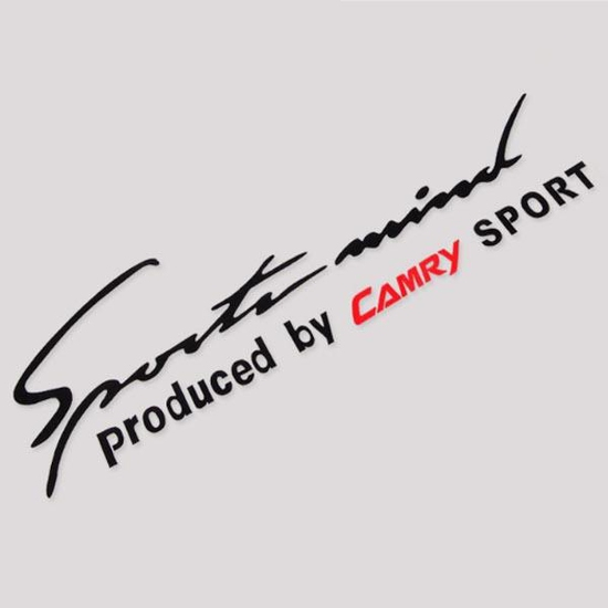 Combo 2 Tem dán Sport trang trí cho ô tô Camry (Đen)