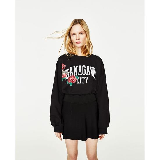 AU534: Áo hoodie da cá vạt lệch hàng chính hãng ZARA sale 45%