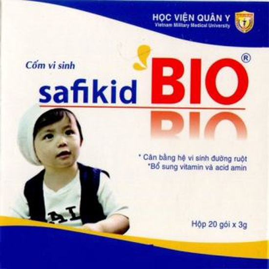 Bộ 05 hộp cốm vi sinh Safikid BIO Học viện quân y