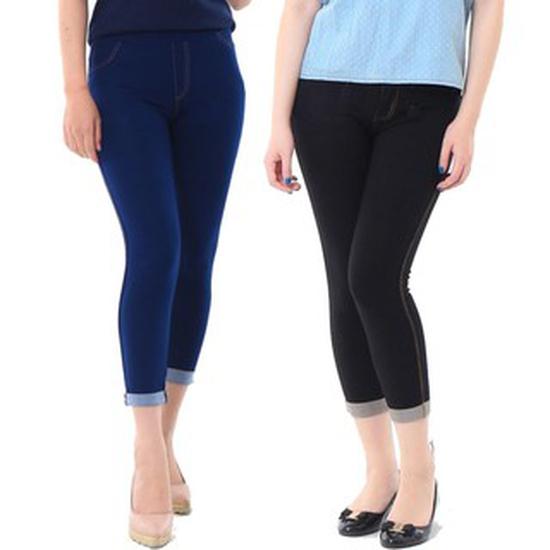 Quần ngố giả jeans ĐEN thời trang