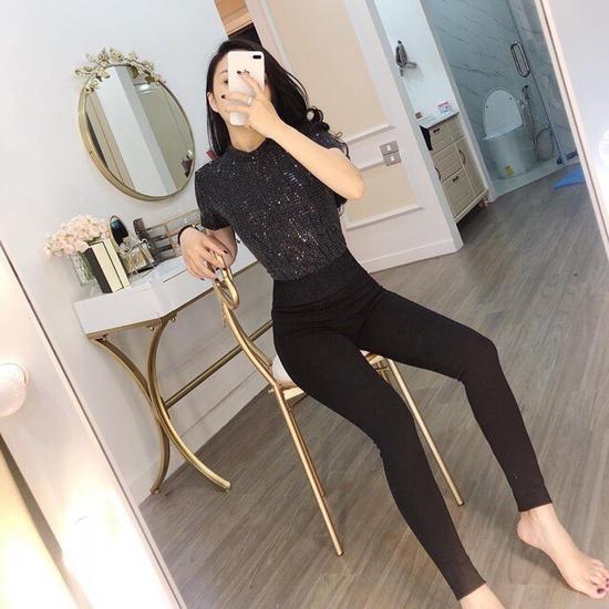 Quần legging CẠP CAO KIM TUYẾN gen bụng thời trang