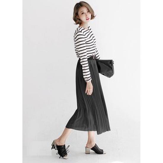 Chân váy XÒE DÀI DẬP LY Vintage