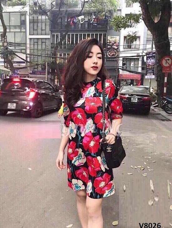 Đầm suông in hoa Zara - hàng Quảng Châu cao cấp