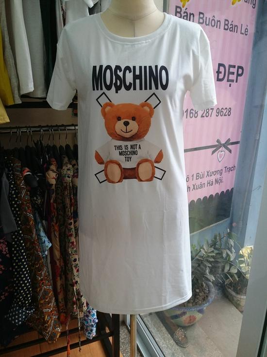 Đầm thun họa tiết Moschino