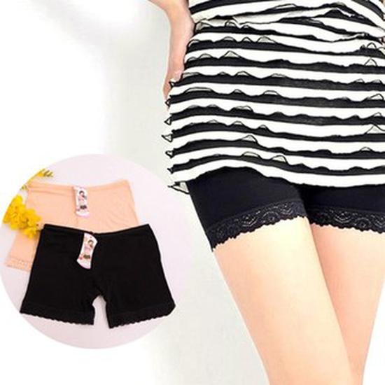 Combo 2 quần đùi cotton mặc trong váy phối ren (Trên 50kg)