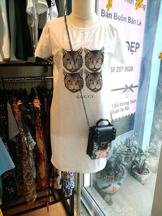 Đầm thun Gucci họa tiết đẹp