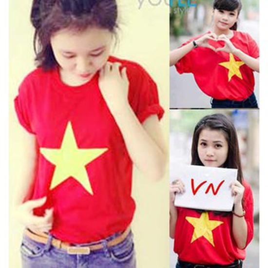Áo cờ đỏ sao vàng cho bạn Nữ
