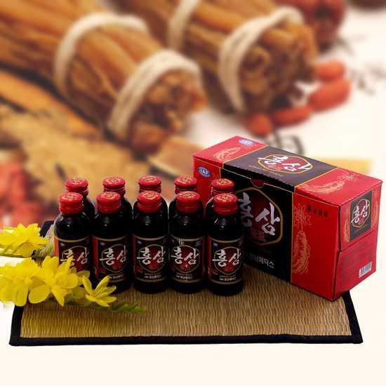 Hộp 10 chai nước uống hồng sâm NK Hàn Quốc