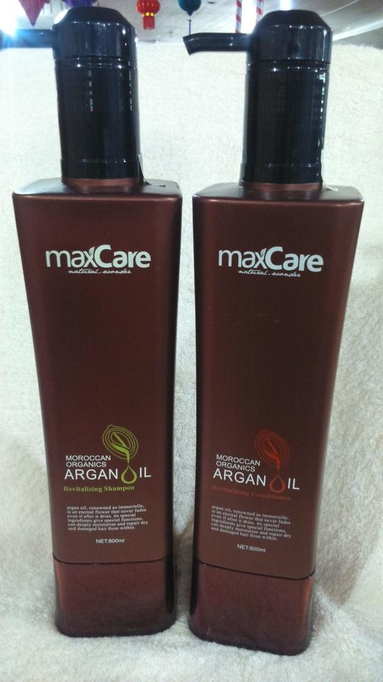 Combo Bộ dầu gội và dầu xả tái tạo chuyên sâu Maxcare Argan Oil Revitalizing 1600ml