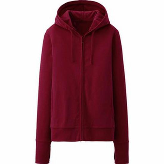 Áo khoác nhẹ thời trang chất da cá (đỏ đậm