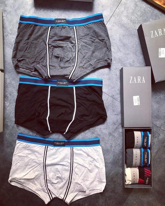 Sịp tam giác, sịp Boxer thương hiệu Zara