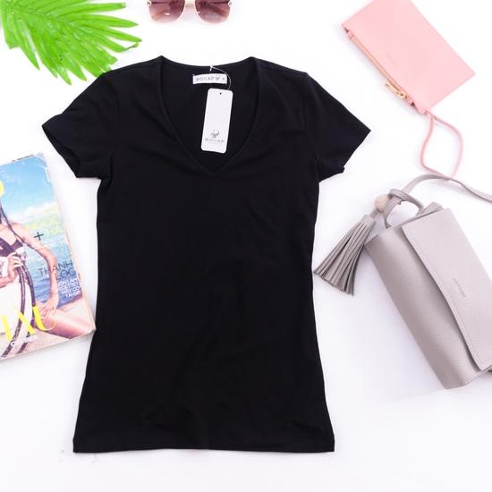 Áo phông cotton cổ tim BOCAP cho bạn nữ