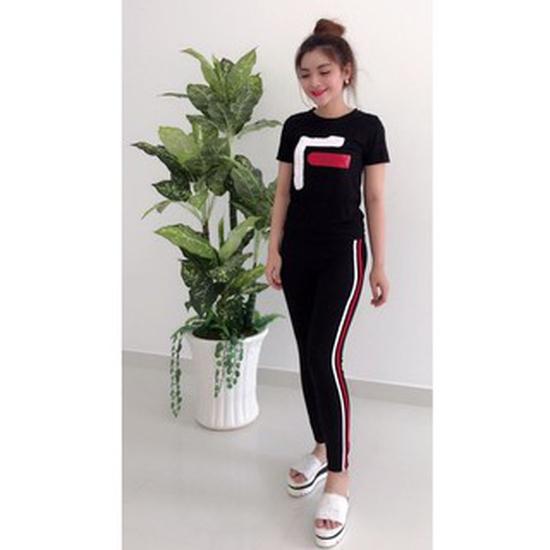 Quần legging SỌC ĐỎ thời trang cho bạn gái