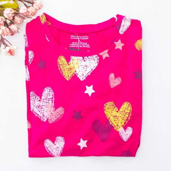 Bộ mặc nhà nhiều họa tiết chất cotton cho bạn gái
