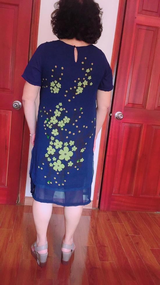 Váy voan 2 lớp in 3D dành cho quý cô, quý bà