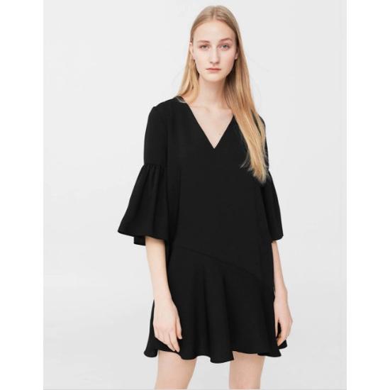 AU641: Váy suông đuôi cá chất rủ hàng chính hãng MANGO sale 40%