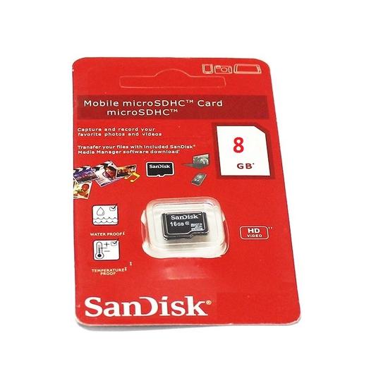 Thẻ nhớ Sandisk 8G, cam kết dung lượng đủ, bảo hành đổi mới 1 năm